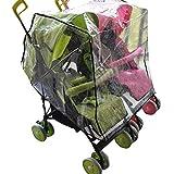 Rain Cover for Baby Pram, Iuhan Universal Baby Stroller Raincover Buggy Pushchair Stroller Pram Transparent Rain Cover Waterproof Umbrella Stroller Wind Dust Shield Cover for Strollers