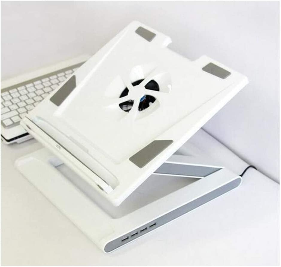 Notebook Stand Lift Folding Portable Bracket Radiator Base Black//White,Comfortable and Practical Yougou01 Laptop Cooler Compatible with 17 Inches Or Less Color : White