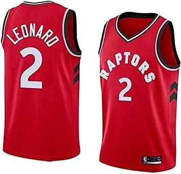 Dwin Maillots de Baloncesto para Hombre - NBA Camisetas Toronto Raptors #2 Kawhi Leonard Swingman Jersey de Malla sin Mangas Top de Chaleco Deportivo: Amazon.es: Deportes y aire libre