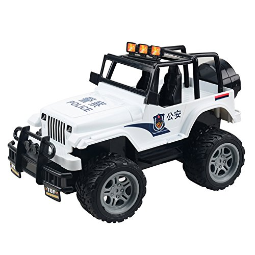 Cross Country Vehicle - Balai Jeep Cross Country Racer Vehicle Remote Control Car Station Wagon LED Light (White)