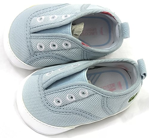 a74827a23 Lacoste Rene Crib Trainers Booties Shoes First Walker Light Blue Slip On  Unisex  Amazon.co.uk  Shoes   Bags