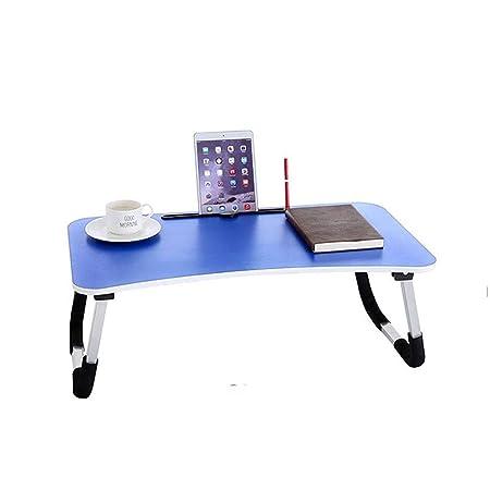 Mesa Plegable, Cama de Mesa para computadora portátil con Mesa de ...