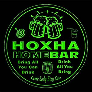 4x ccq21029-g HOXHA Family Name Home Bar Pub Beer Club Gift 3D Engraved Coasters