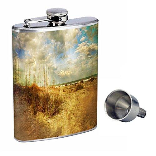 大人気定番商品 ヴィンテージビーチPerfection inスタイル8オンスステンレススチールWhiskey Flask with Free Funnel Free Funnel with d-009 B016XLCFIE, キヨタク:ad82001b --- vezam.lt