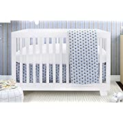 Bebelelo Baby Crib Bedding for Girls and Boys, Blue and White Waddle Sky Drake Design, 4-Piece Set Includes Fitted Sheet, Crib Comforter, Comforter Cover, Skirt