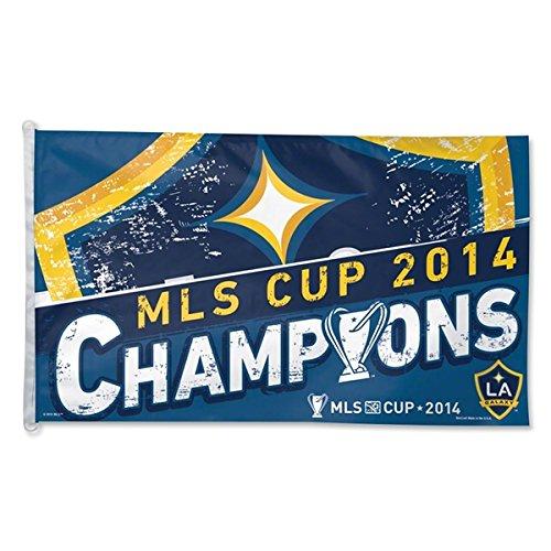 Los Angeles LA Galaxy 2014 MLS Cup Champions WinCraft Blue Yellow Flag (3' x 5')