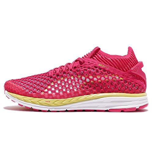 Puma Speed Ignite Netfit Frauen Laufschuhe Damen Sneakers rosa gelb weiß   [B072LPJ7JT]