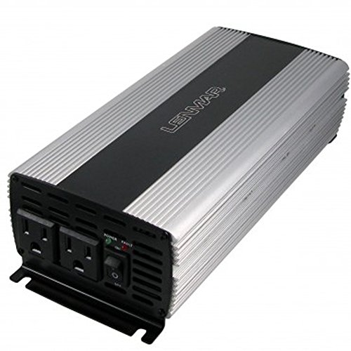 LENMAR Inverter, 1000W w/Aluminum Chassis - DC -to- AC Slim Inverter with USB Port REFURB.
