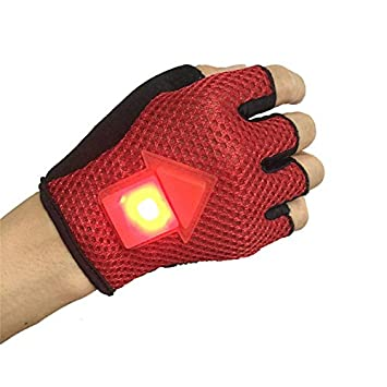 OPEN BUY Guantes LED con señal de Giro Advertencia y ...