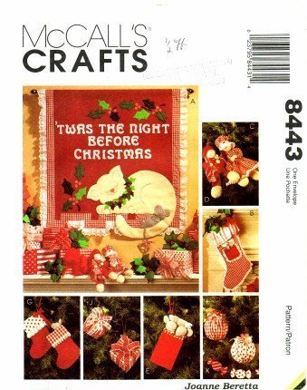 McCall's 8443 Crafts Sewing Pattern Christmas Stocking Ornaments Garland