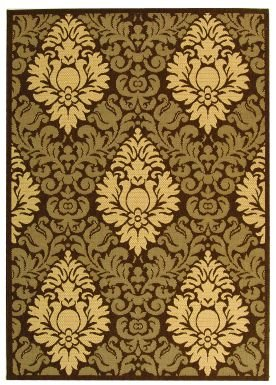 Safavieh Cy2714-3409-3 Courtyard Area Rug In Chocolate / Natural - Cy2714 Natural