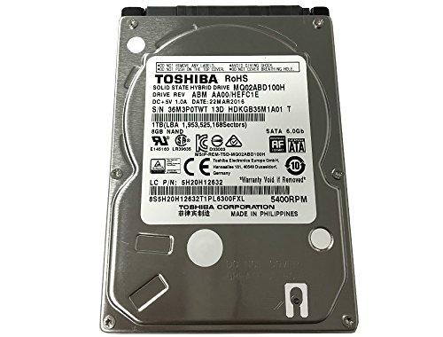 Toshiba MQ02ABD100H 1TB 5400RPM 64MB Cache SATA 6 0Gb/s Solid State Hybrid  (SSHD) 2 5