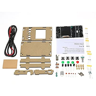 "KKmoon Portable Mini 2.4"" TFT Handheld Pocket Digital Oscilloscope DIY Kit Parts with Probe and Case SMD Soldered Electronic Learning Set 1Msps 0-200KHz STM32 Chip"