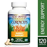 Host Defense - Cordyceps Capsules, Mushroom Support for Energy, 120 Count