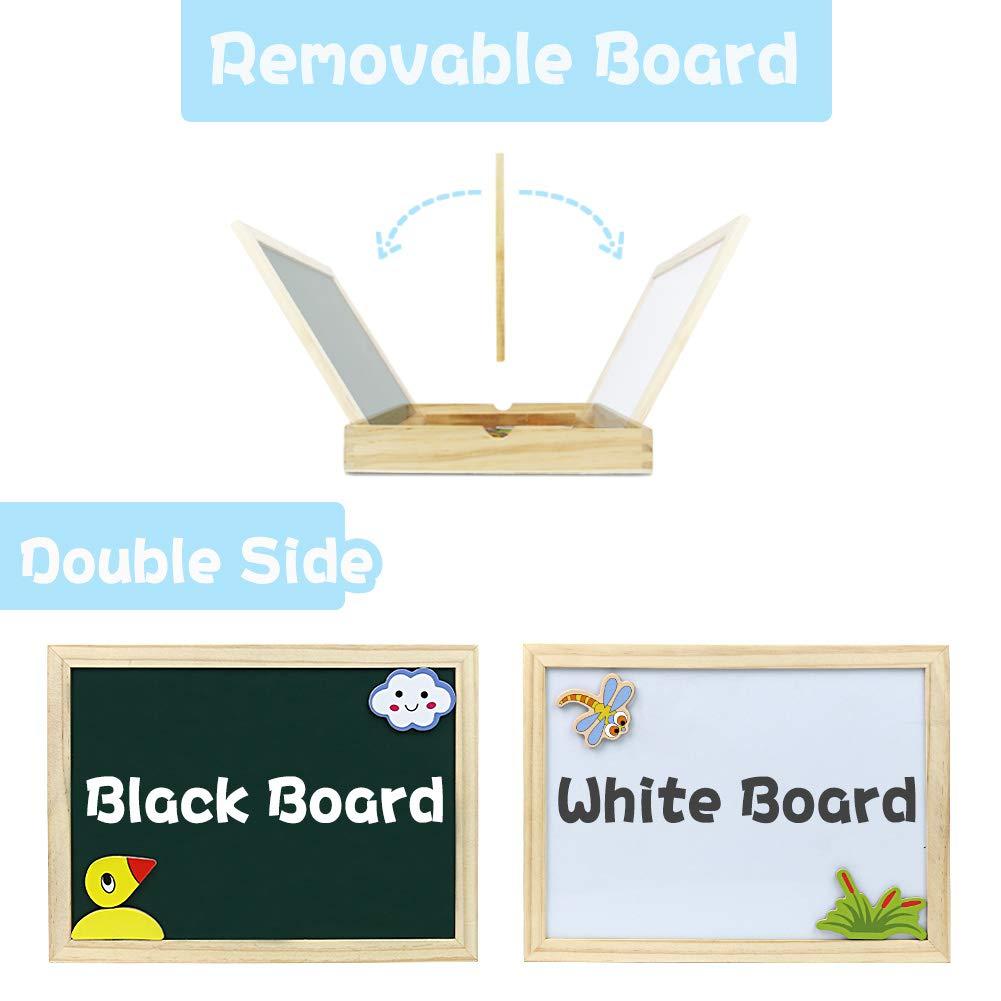Giocattoli in Legno Puzzle Magnetica Costruzioni Giochi e Gioco da Tavolo per Bambini Bambino Bimba da 3 4 5 Anni