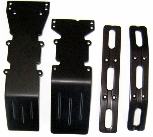 T-Maxx and E-Maxx Black Anodized Skid Plate and Bumper ()