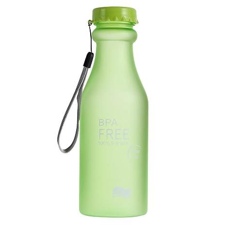 Botella de agua el caramelo colorea irrompible botella de plástico esmerilado de la caldera 550 ml