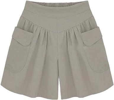 Pantalones Cortos Mujer, KanLin1986 Shorts Mujer Verano Pantalones ...