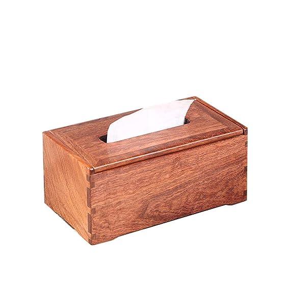 Caja De Pañuelos De Mimbre,Bandeja De Palisandro De Mesa Caja De ...