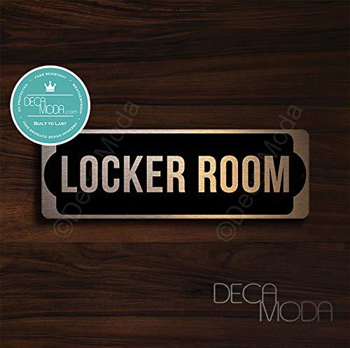 Deca Moda Locker Room Door Sign, Signs for Business, Door Signs, Locker Room Door Signs, Locker Room Door, Copper Finish, 9 x 3 inches