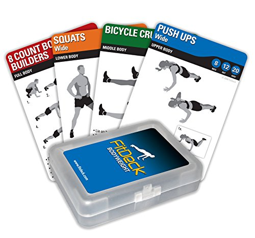 Fitdeck Illustrated Exercise Playing Cards for Guided Workouts, Bodyweight (Best Bodyweight Exercise Equipment)