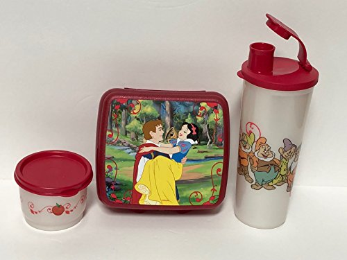 Peace Snow (Tupperware Snow White 3pc Lunch Set Sandwich Keeper Tumbler Snack Cup)