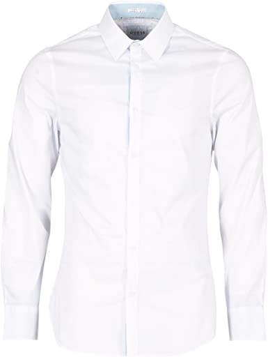 GUESS Venice Camisas Hombres Blanco - XXL - Camisas Manga ...