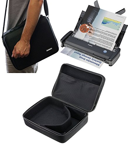 Navitech Black Hard A4 Portable / Mobile Scanner Carry Case For The Fujitsu Scansnap S1300I
