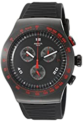 Swatch Men's YOB401 Race Trophy Analog Display Quartz Black Watch