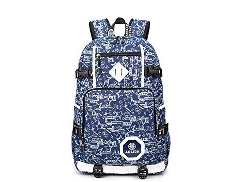 Wesource Outdoor Bags Printing Canvas Laptop Backpack Computer Tablet Backpack for Man Women Good Protecter by Wesource
