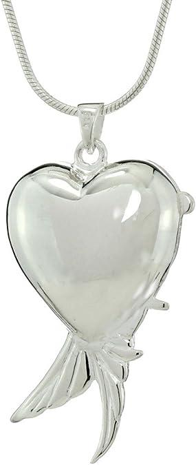 love Sterling silver Sheltering Love anniversary Wing Love Locket Pendant amor-