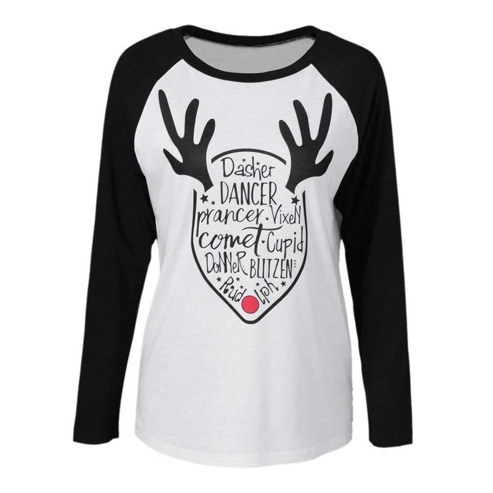 aac15c23fce Hengshikeji Clearance Womens Tunic Tops Christmas Decor T-Shirts ...