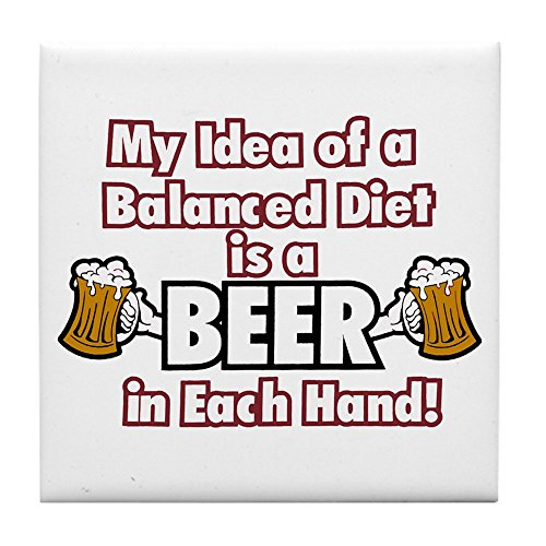 Tile Coaster (Set 4) My Idea Balanced Diet Beer Each Hand - Coors Light Coaster Set