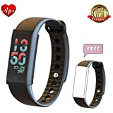 TEYO Fitness Tracker, IP67 Waterproof Smart Bracelet, Activity Tracker with Sleep Monitor Wearable Pedometer Wristband for Android and IOS