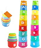 Vidatoy Brilliant Colorful Stacking & Nesting Cups Fun building beakers For Kids