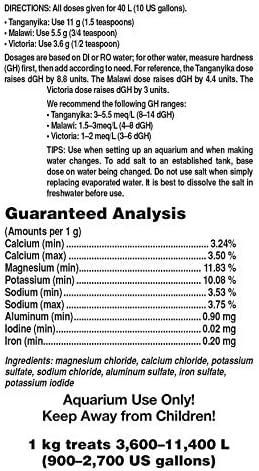 Cichlid Lake Salt, 1 kg / 2.2 lbs