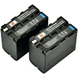 DSTE® 2x Replacement Li-ion NP-F970 Battery for Sony DCM-M1 MVC-CD1000 HDR-FX1 DCR-VX2100E DSR-PD190P NEX-FS700RH HXR-NX3 Camera as NP-F930 NP-F950 NP-F960