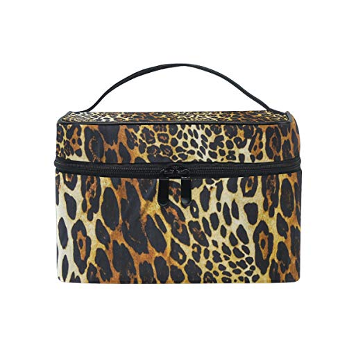 Makeup Bags Organizer Leopard Print Large Travel Cosmetic Beauty Storage Toiletry Pouch for Women