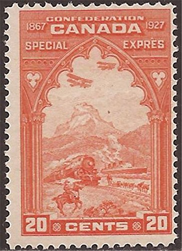 Canada - 1927 20c Orange Special Delivery Stamp - Usps Delivery Canada