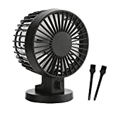 Mini USB Personal Desktop Desk Fan Portable Small Silent Fan 2 Speed Gift 2 Appliance Cleaning Brush