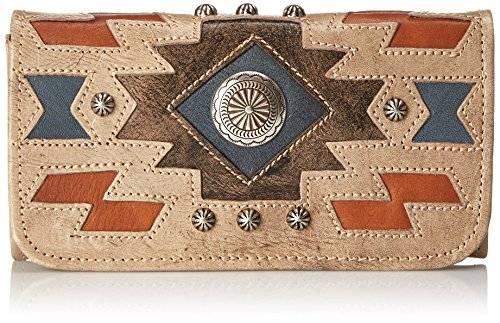 assage L Tri-Fold Wallet, Sand/Distressed Charcoal Brown, One Size ()