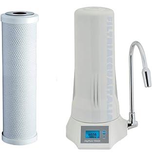 BVC Filtro purificador de Agua para Grifo sobre encimera, Acero INOX. Filtro cerámico - filtración 2 Fases - Filtro CERÁMICO Extra DE Regalo: Amazon.es: Hogar