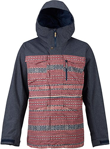 Burton Men's Covert Jacket Improved with Zippered Stash Pocket, Handwarmer Pockets, & Internal Therma Pocket