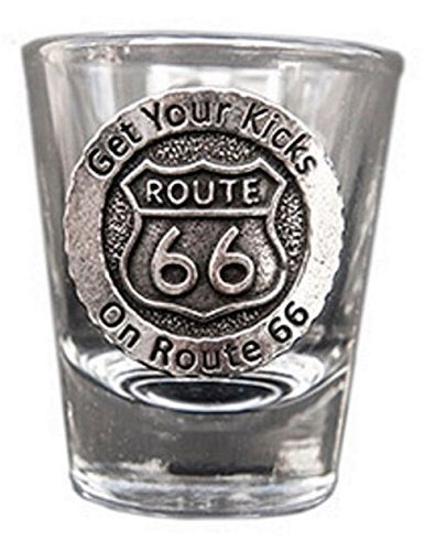 New-Spin Route 66 Get Your Kicks Shot (Route 66 Memorabilia)