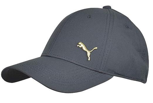 online retailer b1e5f ae262 PUMA- Evercat Alloy Stretch Fit Hat Black Gold Size Small Medium