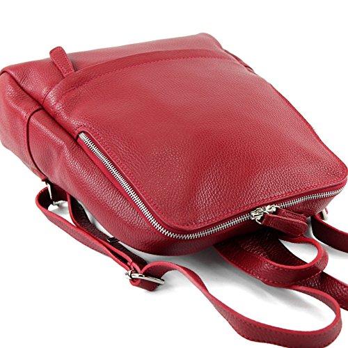 modamoda de - Made in Italy - Bolso al hombro para mujer siehe Beschreibung Rojo