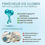 FRAÎCHEUR ICE GLOBES   Frozen Cryo Roller for Cold