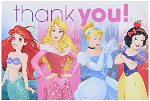- Amscan Magical Disney Thank You Princess Dream Big Birthday Party Postcard, Multicolor, 4 1/4
