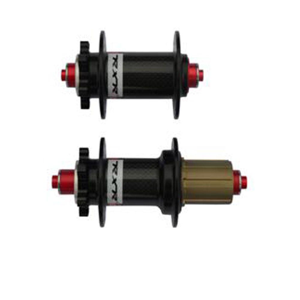 バイクカーボンファイバーハブ – MTBカーボンファイバー軸受ハブセット100 mm 135 mm軸withクイックリリースフィットMountain Bike Cycling B077WFSTZZブラック