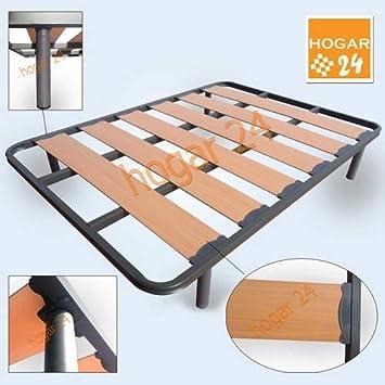 HOGAR24 ES Somier Lama Ancha Reforzada con Tacos Anti-Ruido y Patas Cilíndricas De 32 cm, Tubo 40x30, 135x190cm: Amazon.es: Juguetes y juegos